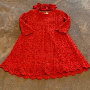 Cat & Jack Red dress with headband
